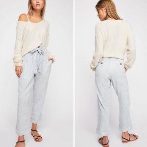Free people rumors harem stripe belted trousers